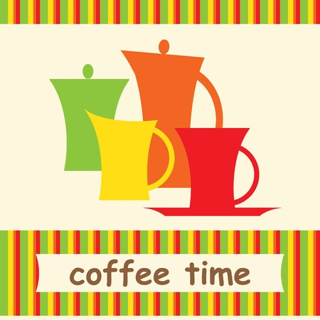 coffee pot: Colorful coffee background