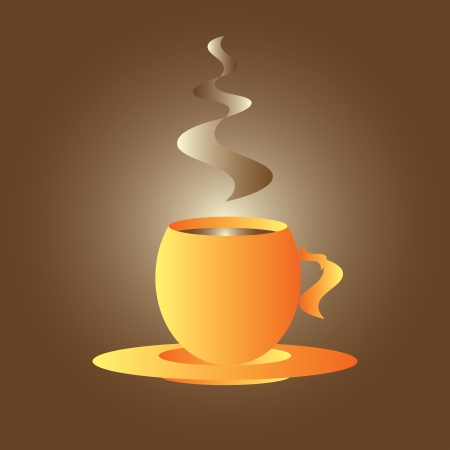 espresso cup: Orange coffee cup