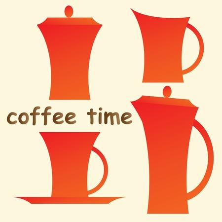 dinnerware: Oramge set of coffee