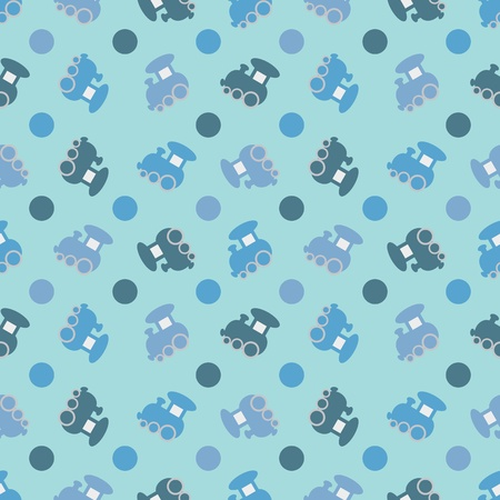 Children seamless background with trains  Vector