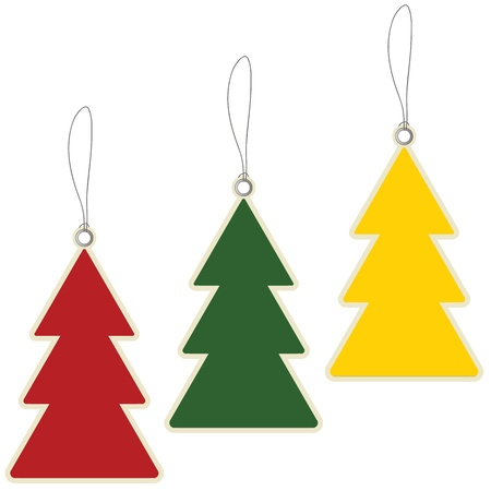 Christmas tree price tag  Illustration