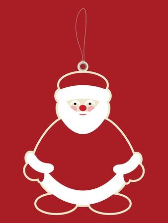 Santa claus price tag Vector