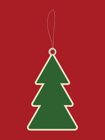 Christmas tree price tag Vector