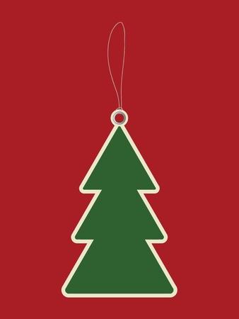 Christmas tree price tag Vector