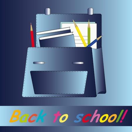 zaino scuola: Scuola zaino blu