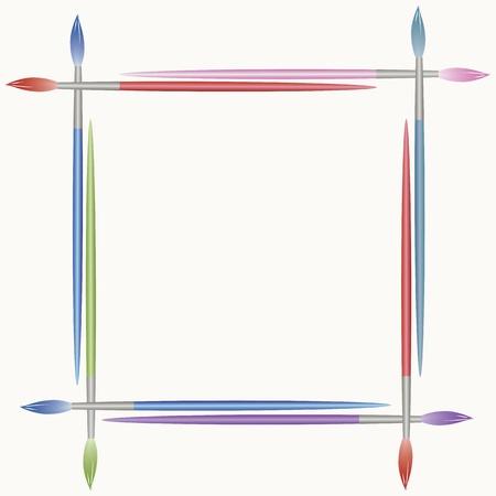 framework: Frame from paints brushes