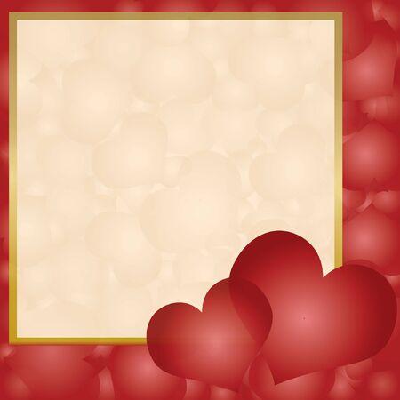 valentin: Invitation card with hearts