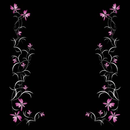 congratulating: Floral pattern frame