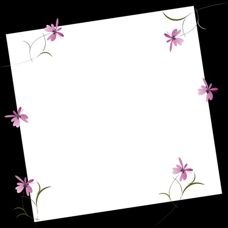 summer holidays: Invitation card with flowers