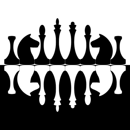 Black and white chessmen Vector
