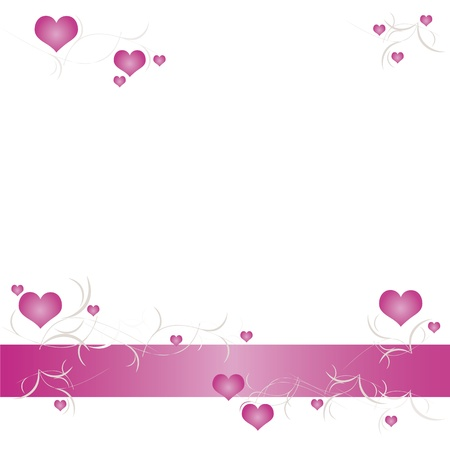 pink border: Valentine background with hearts