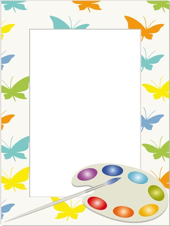 Children photo frame  Vector