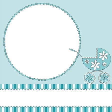 perambulator: Neonati sfondo bianco blu