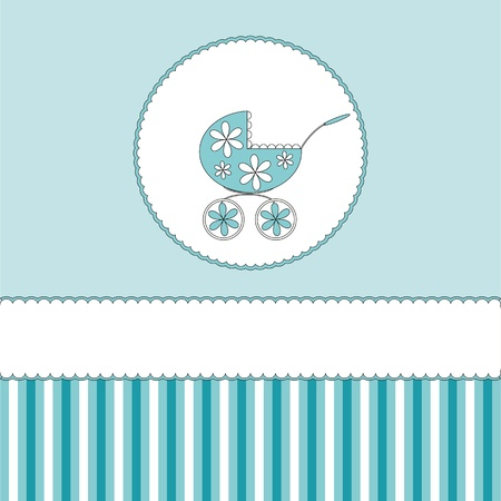 buggy: Babies boy blue background