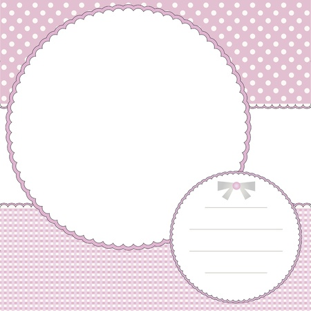 Babies photo frame and name tag Vector