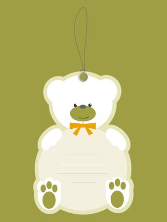 Children price tag with teddy bear Vector