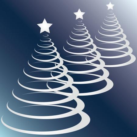 Christmas trees  Ilustração