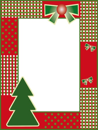 Christmas and new years frame Vector