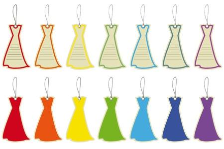 etiquetas de ropa: Etiquetas de precio vestidos