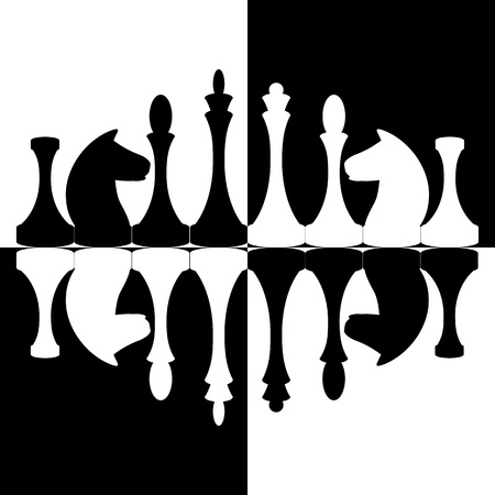 Background with chessmen Vector