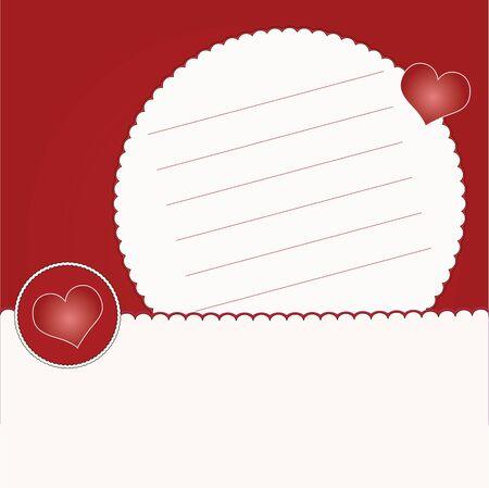 Invitation card with hearts