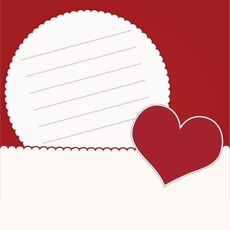 Einladungskarte mit Herzen Standard-Bild - 15252521