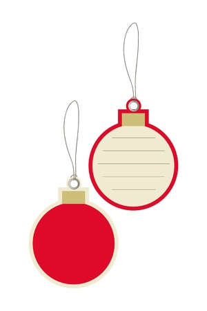 Christmas balls price tag Vector