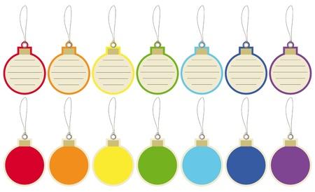 Christmas balls price tags Vector