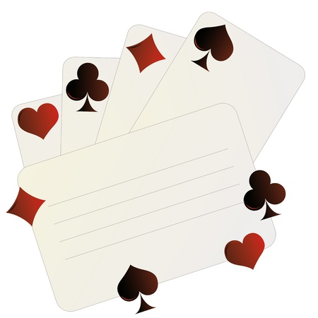 Invitation card with playing card  Vector