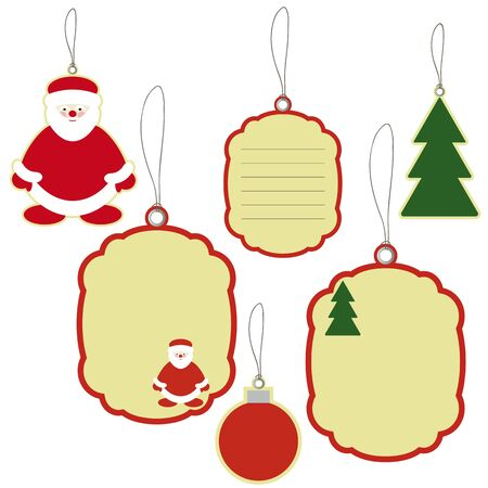 New years and christmas price tags labels Vector
