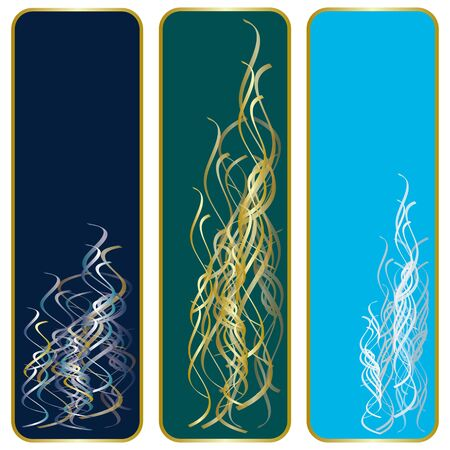 book mark: Abstract banners
