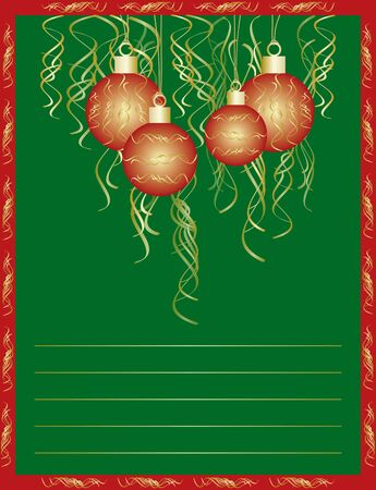 New year or christmas card Vector