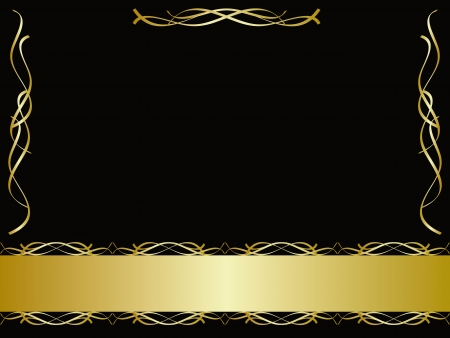 certificate background: Black and gold background