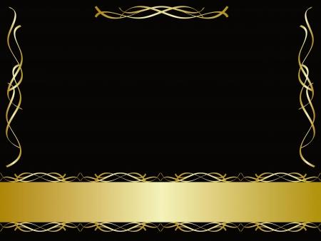 certificat diplome: Fond noir et or Illustration