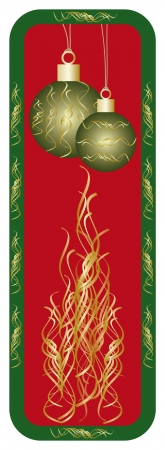 New year or christmas banner vertical Vector