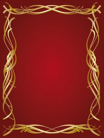 Gold decorative frame Illustration