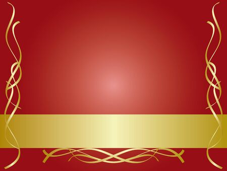 Gold and red decorative background Vector