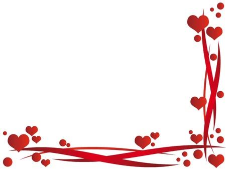 Valentine Rahmen mit Herzen Standard-Bild - 15819938