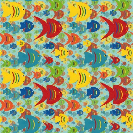 Seamless background with colorful fish  Stock Vector - 15820007
