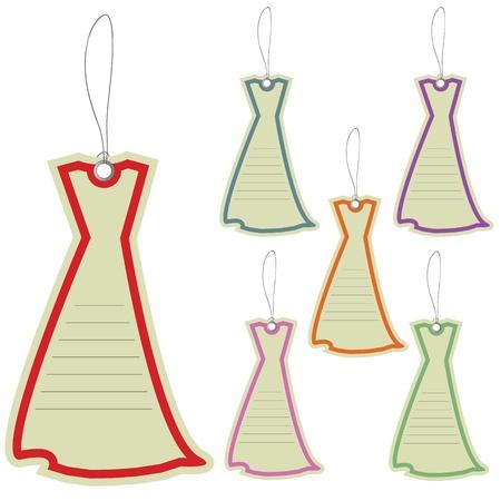novelty: Price labels tags dresses  Illustration