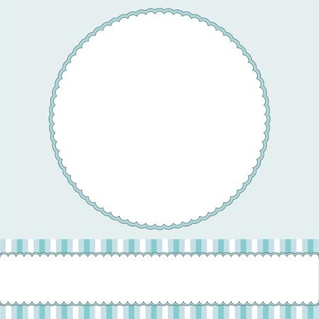 프레임 아기 소년 파란색 배경