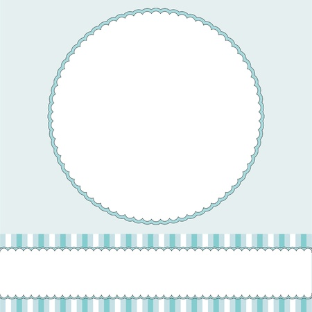 Babies boy blue background with frame Vector
