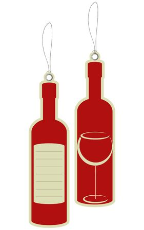 Wine bottle price tags  Vector