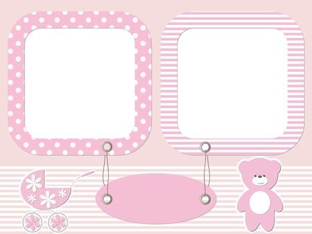 Baby photo frames Stock Vector - 16664568