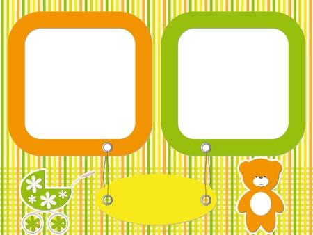 Baby  photo frames Stock Vector - 16664572