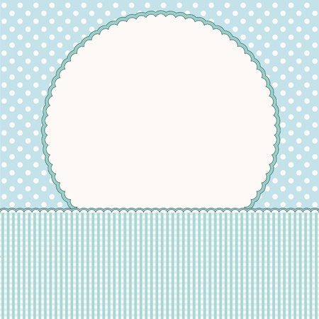 baby boy announcement: Baby arrival card or baby photo frame