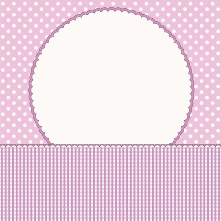 Baby arrival card or baby photo frame Stock Vector - 16664551