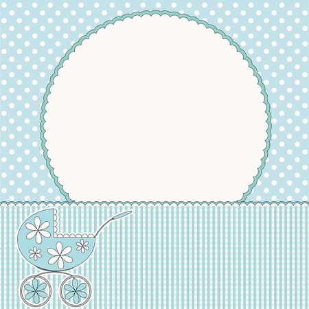 Baby arrival card or baby photo frame Stock Vector - 16664570