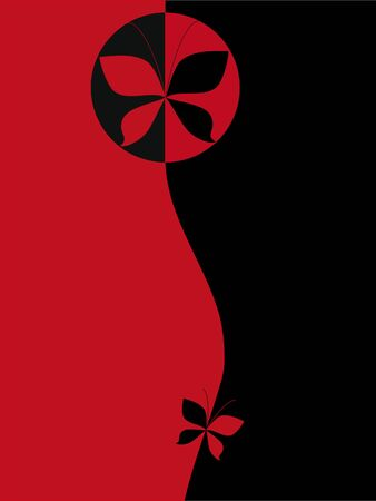 Black and red background cover  Vector
