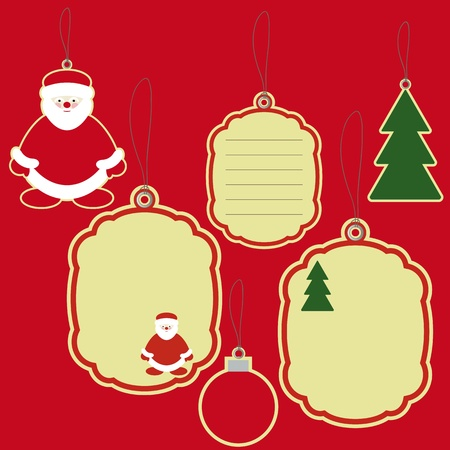 Price tags labels of new year and christmas icons Vector